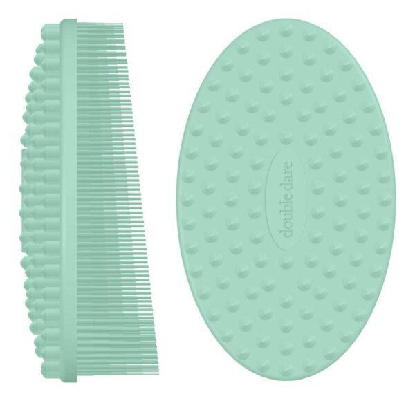 Массажная силиконовая щетка I.M. BUDDY: Мятная