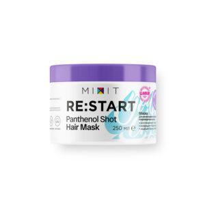 MIXIT Маска для интенсивного восстановления поврежденных волос «RE:START» Panthenol shot hair mask