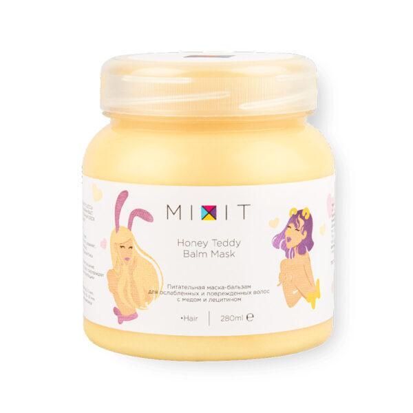 MIXIT Питательная маска-бальзам для ослабленных волос Honey Teddy Balm Mask