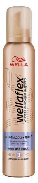 Мусс для волос Wellaflex сильная фиксация 3