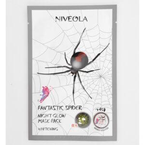 NIVEOLA Маска для лица питательная и выравнивающая тон Spider