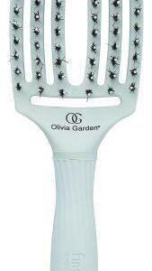 OLIVIA Garden Щетка Finger Brush Combo Medium для Волос + Натуральная Щетина Pastel Green