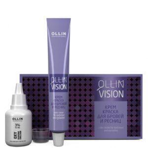 OLLIN PROFESSIONAL Крем-Краска Vision Eyebrows Color Cream для Бровей и Ресниц Графит в Наборе