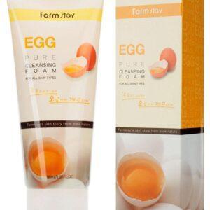 Пенка для лица FarmStay очищающая с яичным экстрактом