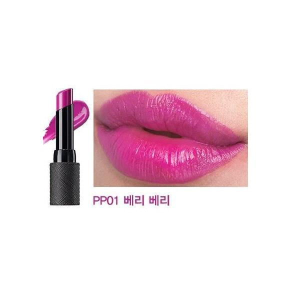 Помада для губ увлажняющая The Saem Kissholic Lipstick Moisture PP01 Very Berry 4