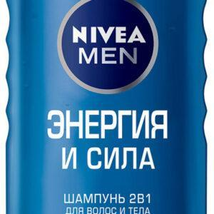 Шампунь для волос мужской Nivea Men энергия и сила