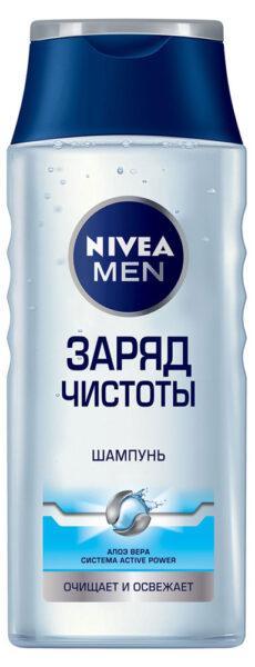 Шампунь для волос мужской Nivea Men заряд чистоты
