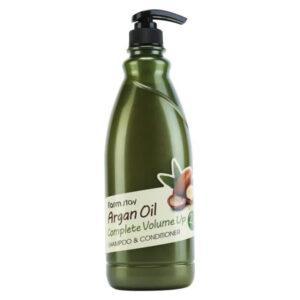 Шампунь - кондиционер с аргановым маслом FarmStay Argan Oil Complete Volume Up Shampoo & Conditioner 530 мл