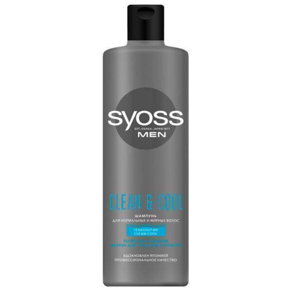 шампунь SYOSS Men Clean&Cool 450мл мужской