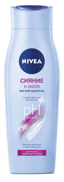 Шампунь-уход для волос Nivea Сияние и забота
