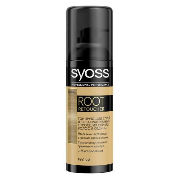 спрей тонирующий SYOSS Root Retoucher Русый 120мл активатор цвета