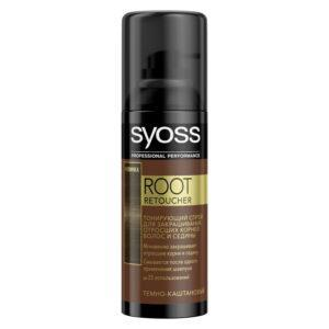 спрей тонирующий SYOSS Root Retoucher Темно-каштановый 120мл активатор цвета
