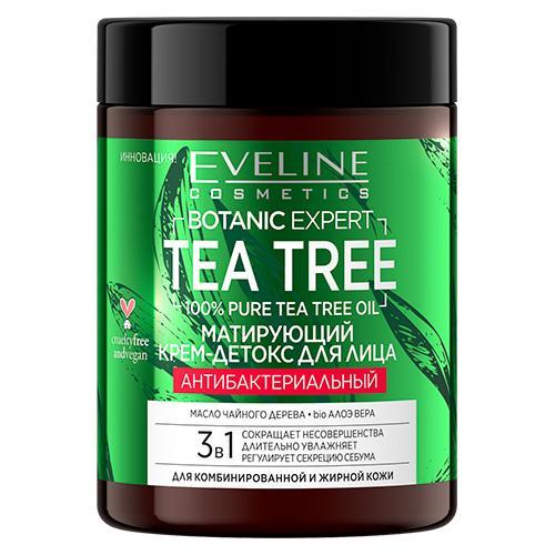 Крем для лица EVELINE BOTANIC EXPERT TEA TREE 3 в 1 антибактериальный матирующий 100 мл