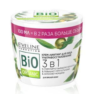 Крем-лифтинг для лица EVELINE BIO ORGANIC 3 в 1 ультравосстановление 100 мл