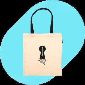 Шоппер «Сумка-шопер «Тайная комната» бежевая с чёрными ручками» () 1шт