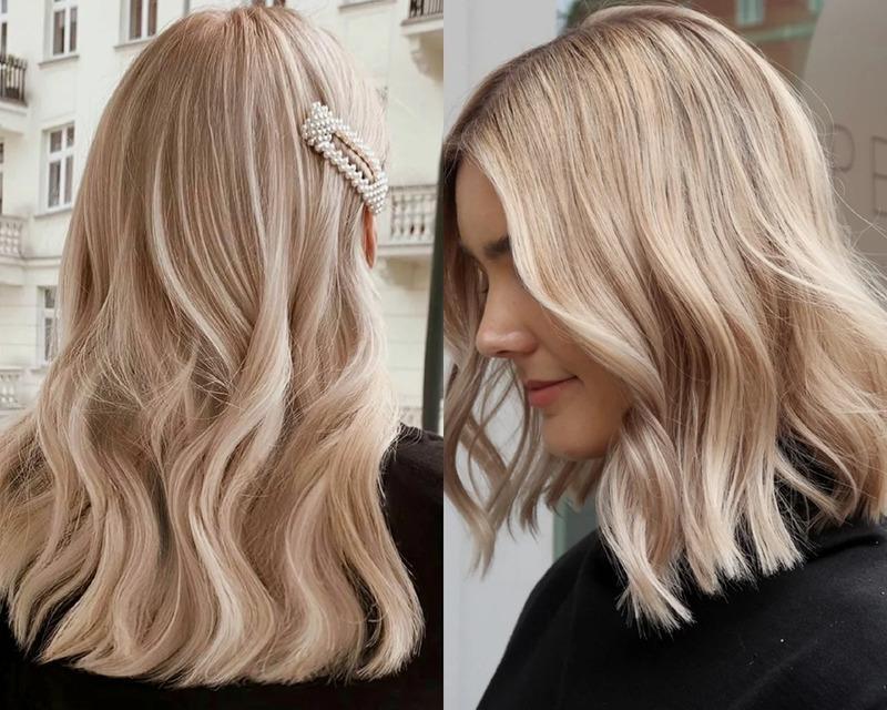 Кремовый, карамельный и бежевый блонд