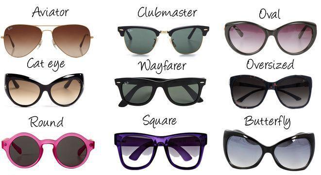 Солнечные очки модели